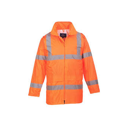 ORANGE HI-VIS RAIN JACKET – WATERPROOF