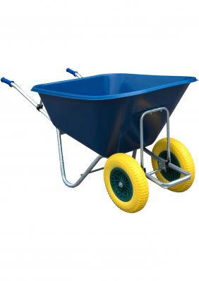 BIG BLUE WHEEL BARROW WITH PUNCTURE PROOF TYRES