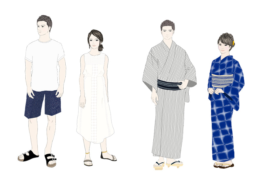 Kimono for light leisure, summer festivals and as room wear