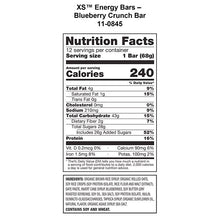 Load image into Gallery viewer, XS™ Energy Bar – Blueberry Crunch