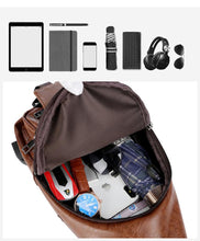 Load image into Gallery viewer, Leisure Fashion Shoulder Backpack Usb Charge Men Chest Bag
