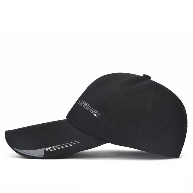 Hat Baseball-cap Snapback Sports-cap Long-visor-brim Bone-gorras Fashion-line Fish Mens