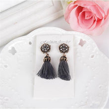 Load image into Gallery viewer, Fashion Diamond Tassel Stud Earrings