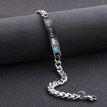 Load image into Gallery viewer, Couple Bracelets Day Gift Fashion Zircon Titanium Steel