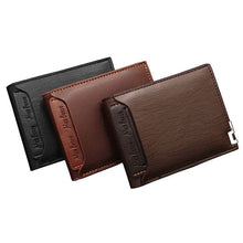 Load image into Gallery viewer, Menbense Men' Wallet Short Multi-function Fashion Casual Iron Side Card Wallet