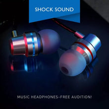Load image into Gallery viewer, Arj In-ear Subwoofer Line Control Metal Earphone With Microphone