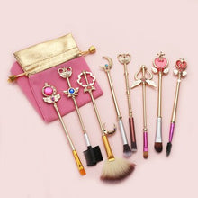 Load image into Gallery viewer, 8 Sailor Moon Makeup Brushes Anime Periphery Birthday Holiday Gifts