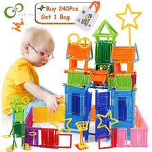 Load image into Gallery viewer, 120/240Pcs Assembled Building Blocks DIY Smart Stick Blocks Imagination Creativity Educational Learning Toys Children Gift GYH