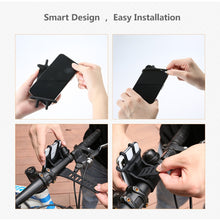 Load image into Gallery viewer, FLOVEME Bike Phone Holder Universal Motorcycle Bicycle Mobile Cell Phone Stand Handlebar Clip Holder For iPhone11 xiaomi Bracket