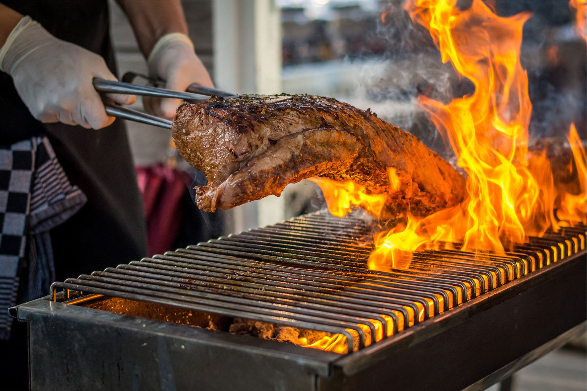 flame grilled meat