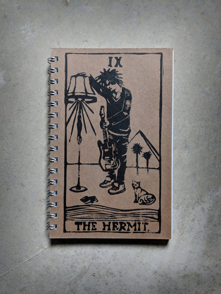 Robert Smith as The Hermit Rock'n Roll Tarot Notebook
