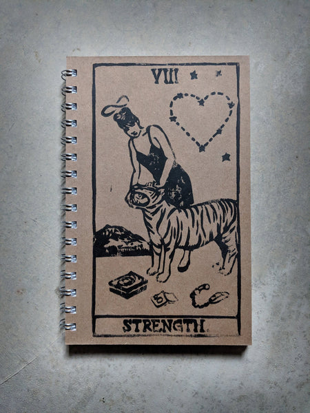 Kathleen Hanna as Strength Rock'n Roll Tarot Notebook