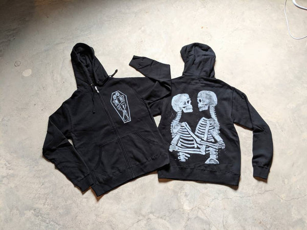 True Love and Hate Skeletons Hoodie