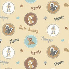 Load image into Gallery viewer, Bambi Thumper and Flower Circles Fabric Remnant