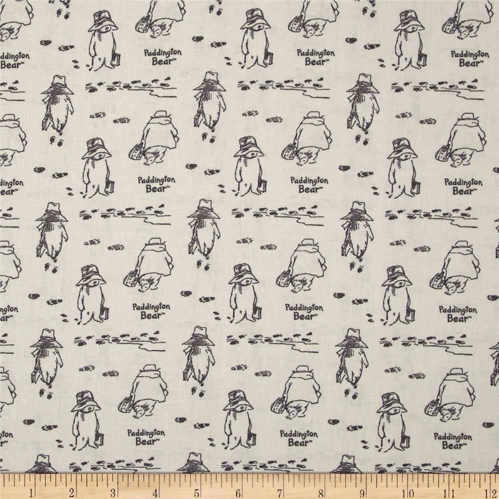 Paddington Bear Fabric - Remnant