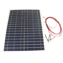 Load image into Gallery viewer, 20W 18V Semi Flexible Solar Panel Power Battery Charger for RV Boat Tent Car