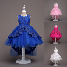 Load image into Gallery viewer, Cute Summer Sleeveless Baby Girls Princess Lace Wedding Party Dancing Dress