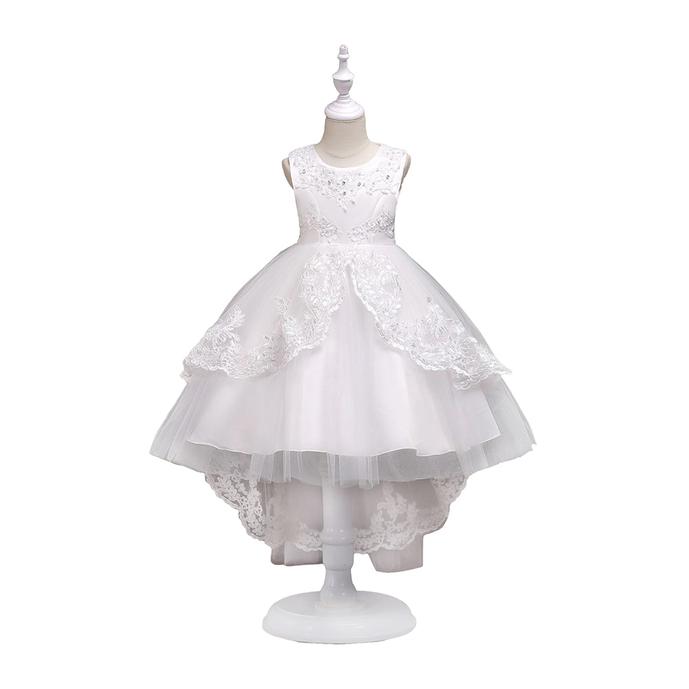 Cute Summer Sleeveless Baby Girls Princess Lace Wedding Party Dancing Dress