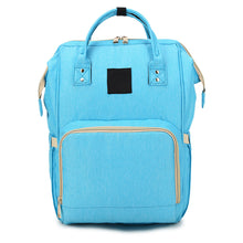 Load image into Gallery viewer, Fashion Mummy Nappy Diaper Large Capacity Baby Care Bag Travel Outdoor Backpack