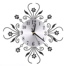 Load image into Gallery viewer, Modern DIY Analog 3D Flower Large Number Wall Clock Home Bedroom Decor