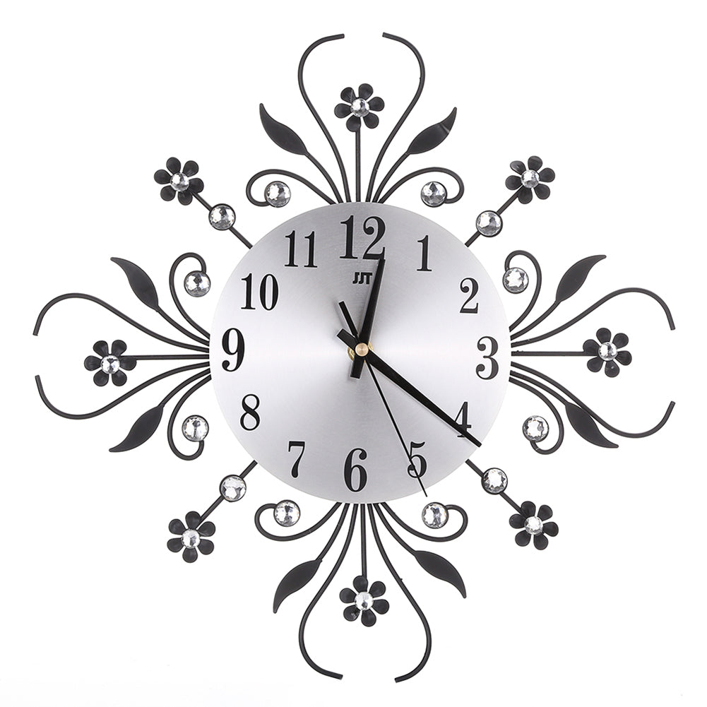 Modern DIY Analog 3D Flower Large Number Wall Clock Home Bedroom Decor