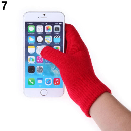 Women Men Winter Soft Warm Texting Capacitive Smartphone Touch Screen Gloves