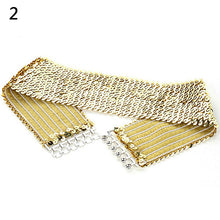 Load image into Gallery viewer, Women's Cool Punk Sparkling Sequins Elastic Stretch Wide Waistband Waist Belt