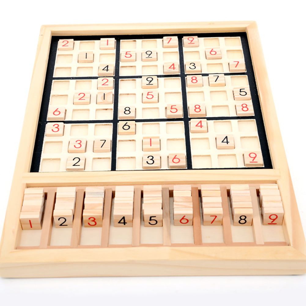 Wooden Sudoku Chess Digits 1 to 9 Desktop Games Adult Kids Puzzle Education Toys