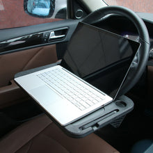 Load image into Gallery viewer, Auto Steering Wheel Food Eating Hook on Laptop Tablet Desk Car Travel Table