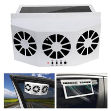 Load image into Gallery viewer, Solar Powered Car Vehicle Ventilation Exhaust Air Summer Cooling Fan Radiator