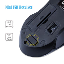 Load image into Gallery viewer, Q2 Symmetric Design 1200DPI Optical Mini Wireless Mouse for Laptop Computer