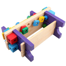 Load image into Gallery viewer, Kid Children Wooden Wrench Hammer Screwdriver Workbench Tool Pretend Builder Toy