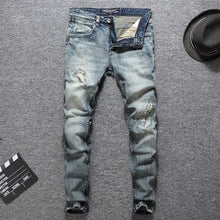 Load image into Gallery viewer, Italian Designer Men Jeans High Quality Slim Fit Cotton Ripped Jeans Homme Plus Size 29-38 Balplein Brand Classical Jeans Men