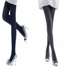 Load image into Gallery viewer, Women Fashion Pure Color 120D Opaque Footed Tights Sexy Pantyhose Stockings Socks