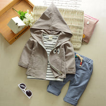 Load image into Gallery viewer, 3Pcs Baby Boys Girls Clothing Set Autumn Hoodies Outerwear Pants Shirt Outfits