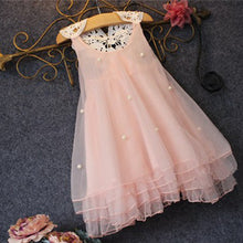 Load image into Gallery viewer, Cute Baby Girl Imitation Pearl Decor Sleeveless Loose Lace Flower Back Dress