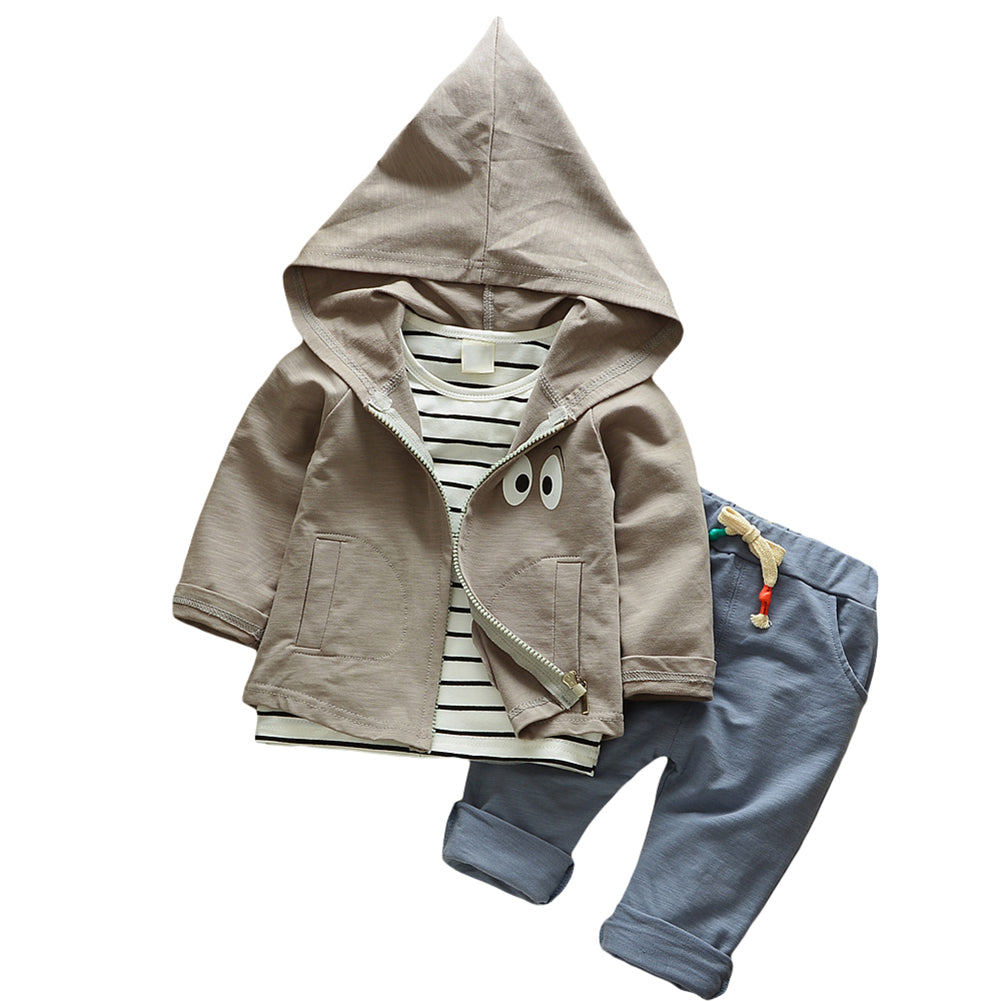 3Pcs Baby Boys Girls Clothing Set Autumn Hoodies Outerwear Pants Shirt Outfits