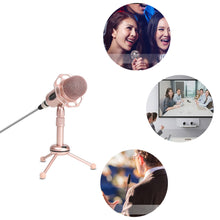 Load image into Gallery viewer, 3.5mm Portable Omnidirectional XLR Cable Karaoke Singing Computer Microphone Mic