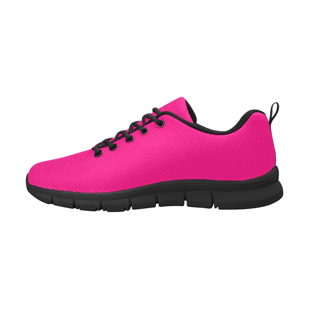 Womens Sneakers, Rose Pink Black Bottom Running Shoes