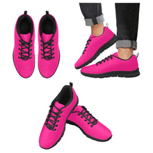 Load image into Gallery viewer, Womens Sneakers, Rose Pink Black Bottom Running Shoes