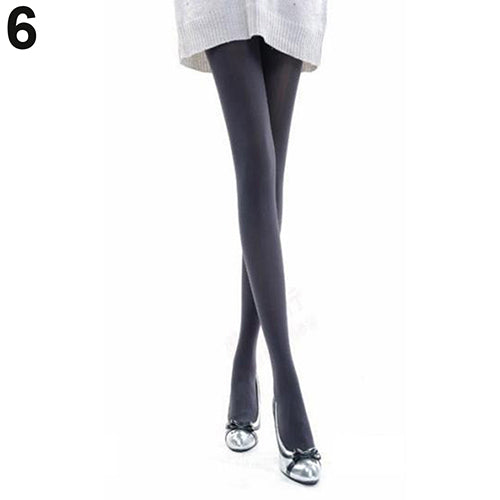 Women Fashion Pure Color 120D Opaque Footed Tights Sexy Pantyhose Stockings Socks