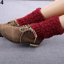 Load image into Gallery viewer, Women's Fashion Winter Crochet Knit Leg Warmers Toppers Cuffs Short Boot Socks