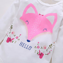Load image into Gallery viewer, Fashion Baby Girls Hello Fox Long Sleeve Pullover Romper Pants Outfits Cloth Set