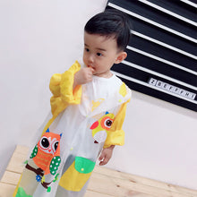 Load image into Gallery viewer, Lovely Cartoon Raincoat Children Kids Waterproof Poncho with Backpack Position