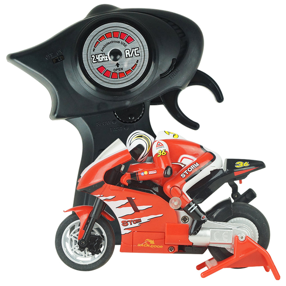 Mini RC Motorcycle High Speed Radio Controlled 2.4GHz Motorbike Children Toy