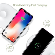 Load image into Gallery viewer, Baseus 2 in 1 Wireless Charger Pad For Apple Watch iPhone X Xs Max XR Desktop Fast Wireless Charging Charger Born for Apple Fans - Winglobal