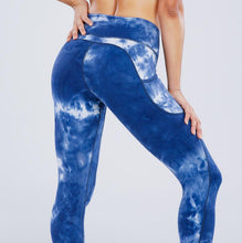 Load image into Gallery viewer, Tie-dye Workout Yoga Pants High Waist Elastic Tights Sports Hip Lift Pocket Seamless Fitness Leggings