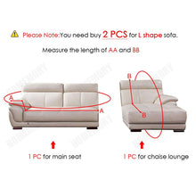 Load image into Gallery viewer, Plush Sofa Cover Velvet Elastic Leather Corner Sectional For Living Room Couch Covers Set Armchair Cover L Shape Seat Slipcovers