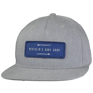 McKevlin's - Two Boards Hat - Heather Grey - MCKEVLIN'S SURF SHOP