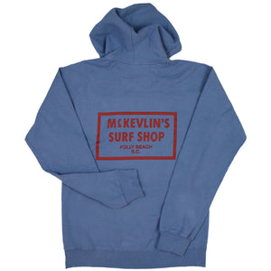 McKevlin's - 65 Dye Men's Hood Fleece - Saltwater Blue